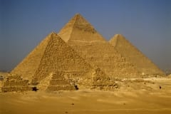 Pyramid of Menkaure, Khafre and Khufu