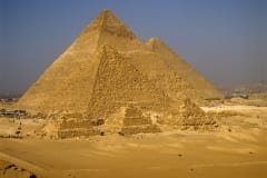 Pyramids of Menkaure, Khafre and Khufu